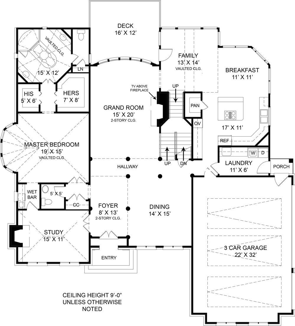 First Floor Plan image of Westover House Plan