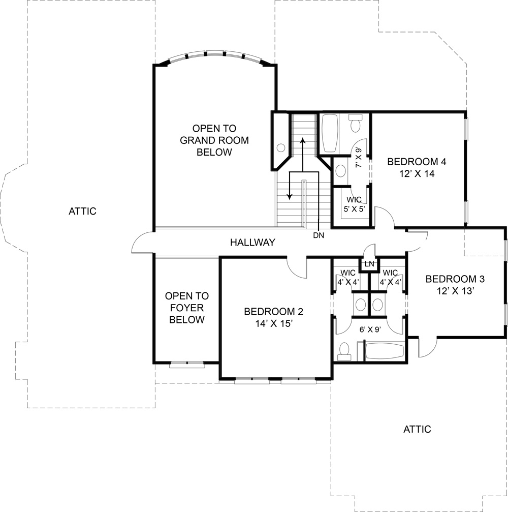 Second Floor Plan image of Westover House Plan