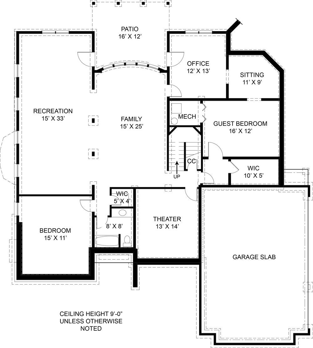 Basement image of Westover House Plan