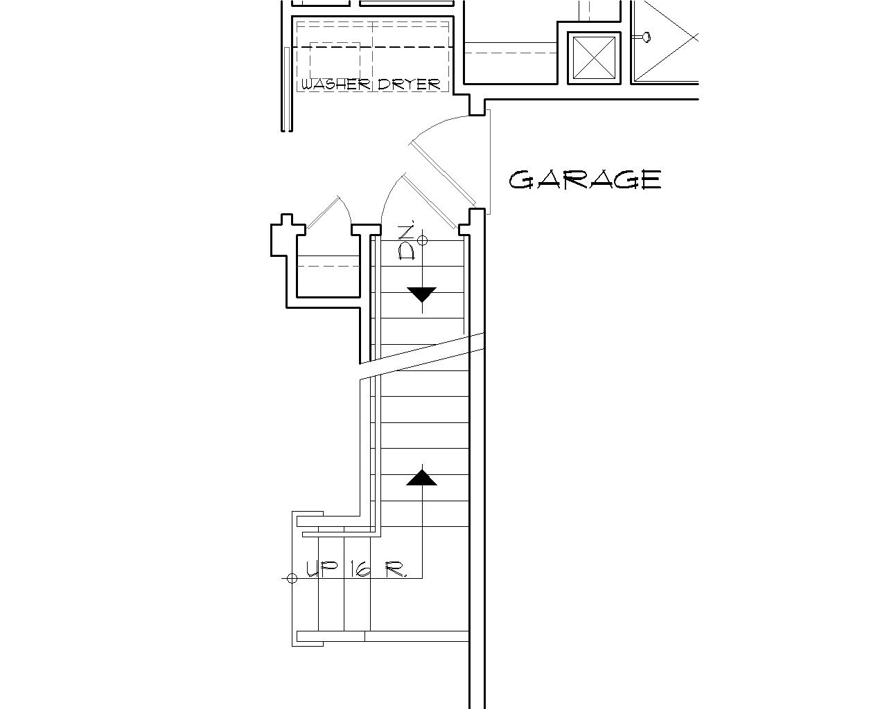 Basement Stair Location image of Griswold House Plan