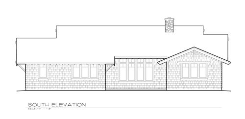 South Elevation image of Oldbury House Plan