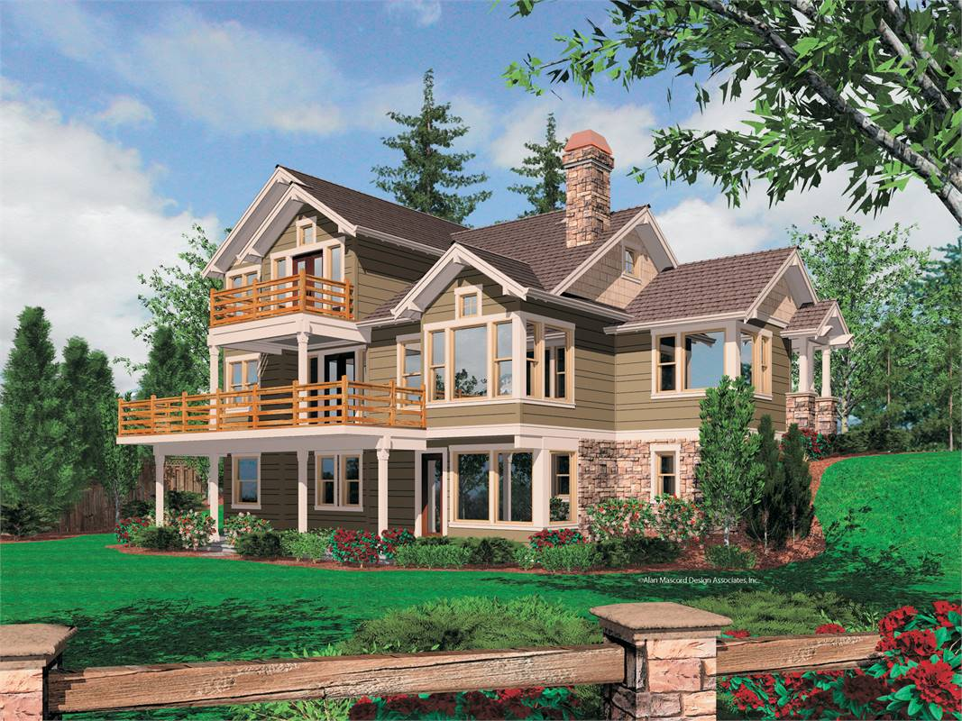 Rear View image of Doncaster House Plan