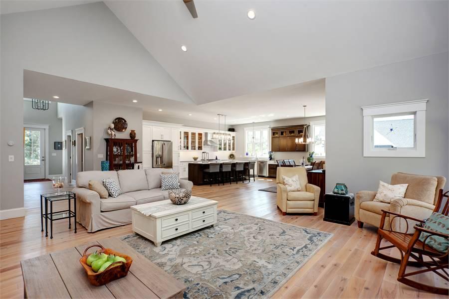 Kitchen & Living image of Bonaire House Plan