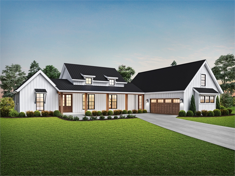 8310 Front Rendering by DFD House Plans