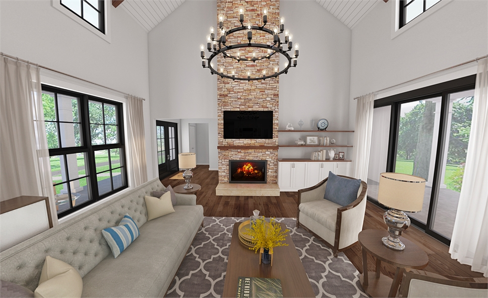 8310 Great Room by DFD House Plans