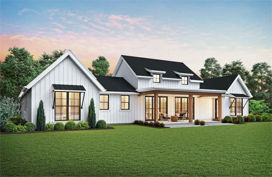 8310 Rear Rendering by DFD House Plans