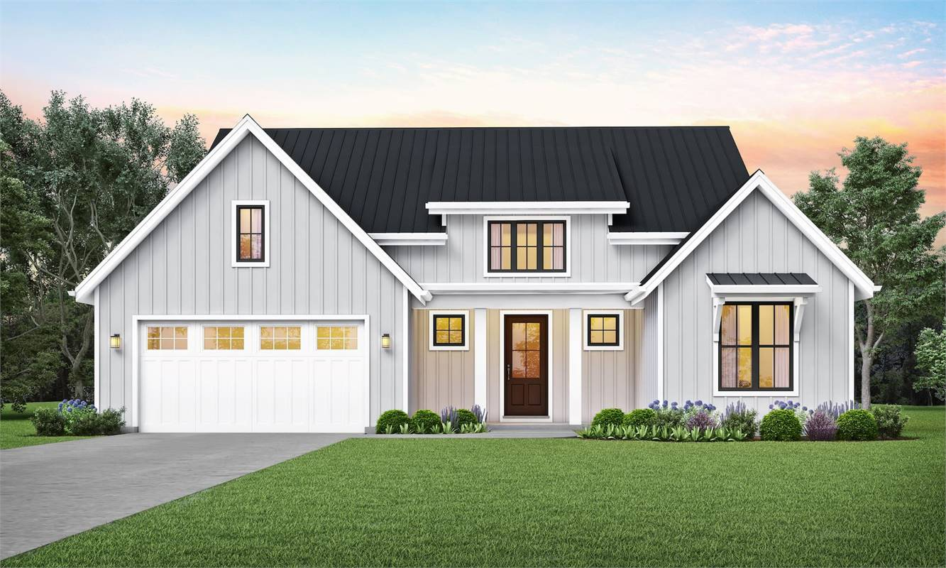 Front View image of Cool Creek House Plan