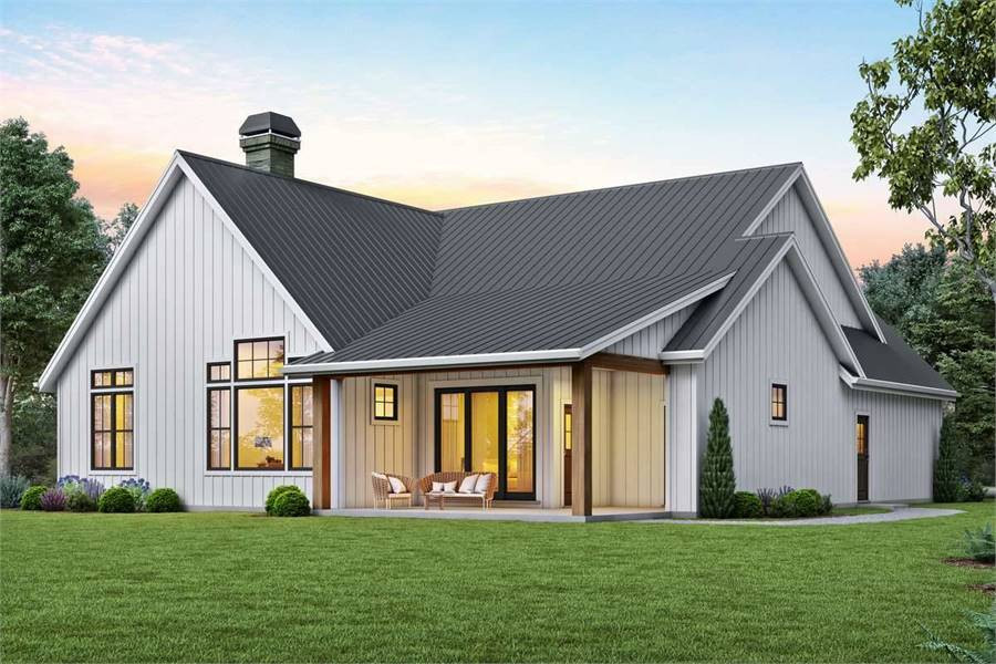 Rear View image of Cool Creek House Plan