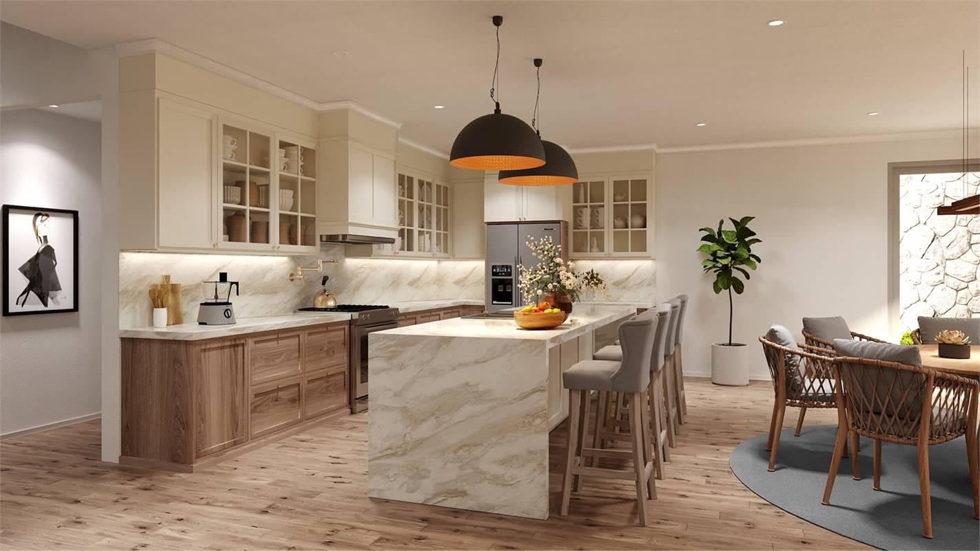 Kitchen image of Cool Creek House Plan