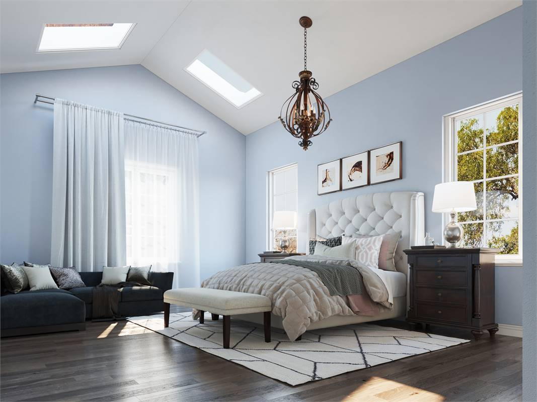 Master Bedroom image of Cool Creek House Plan
