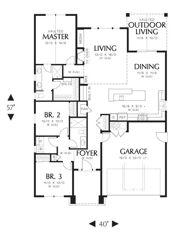 First Floor image of Greene House Plan