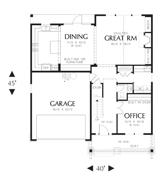 First Floor Plan image of Central House Plan