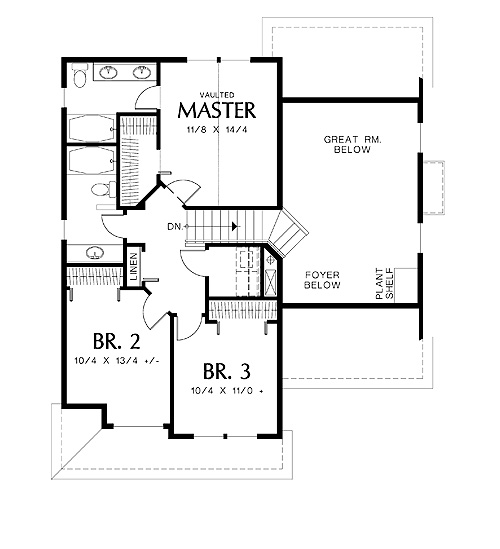Second Floor Plan image of Dundee House Plan
