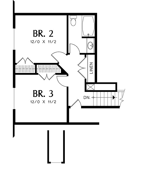 Second Floor Plan image of Stratham House Plan