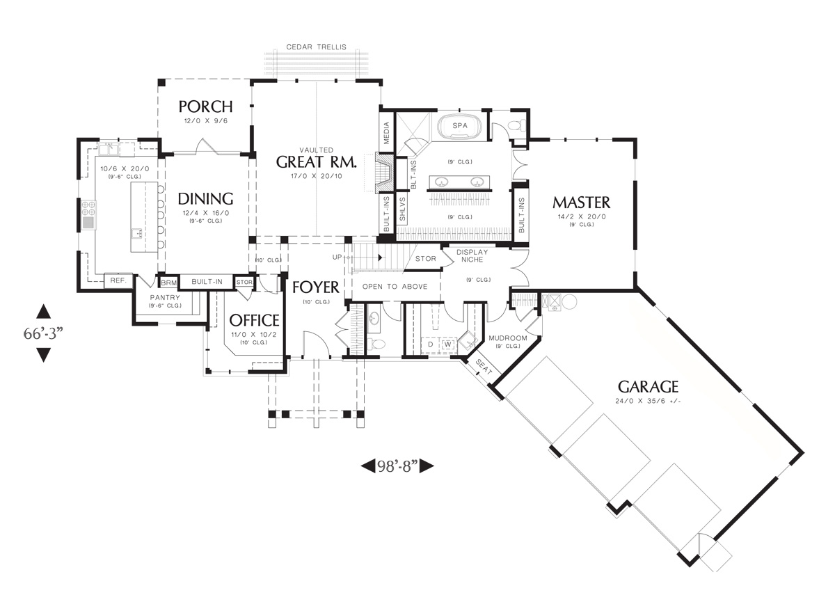 First Floor Plan image of Ira House Plan