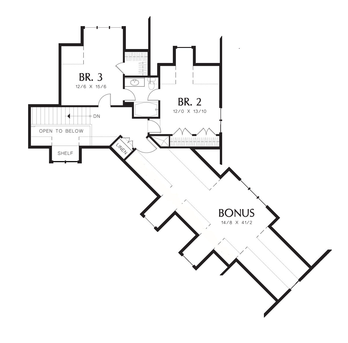 Second Floor Plan image of Ira House Plan