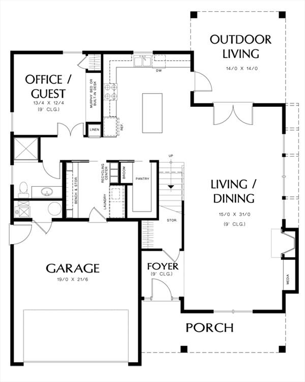 Main Floor Plan image of Halstead House Plan