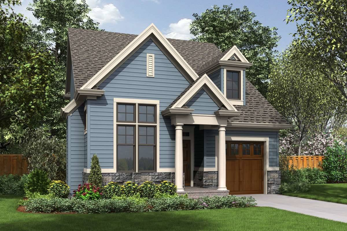 Narrow Home Plans with a Front Garage - DFD House Plans Blog