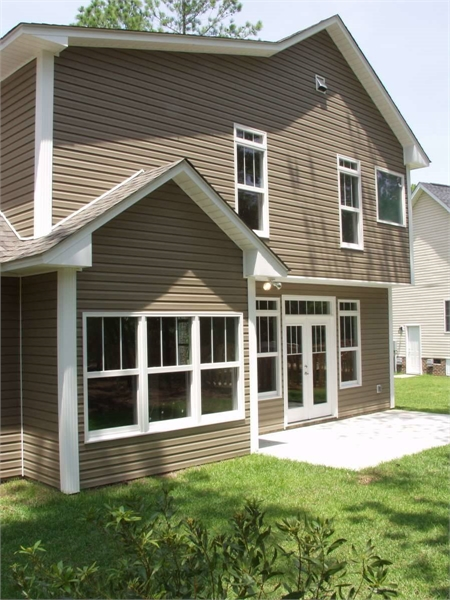 Rear Exterior image of North Andover House Plan