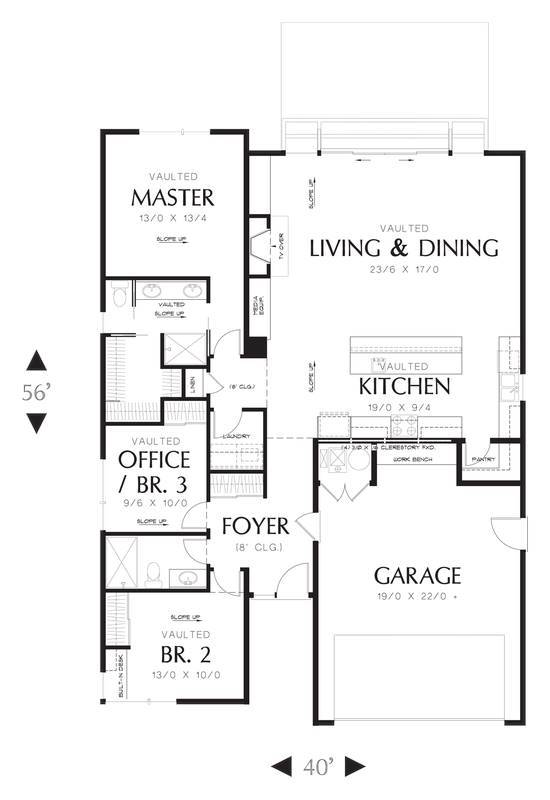 Main Floor Plan image of Revere House Plan