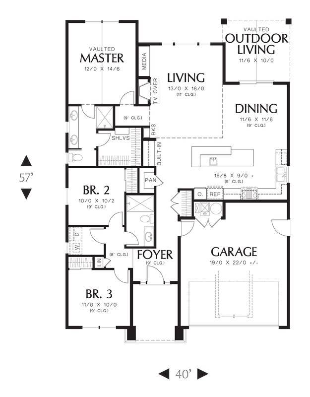 Main Floor Plan image of Greene House Plan