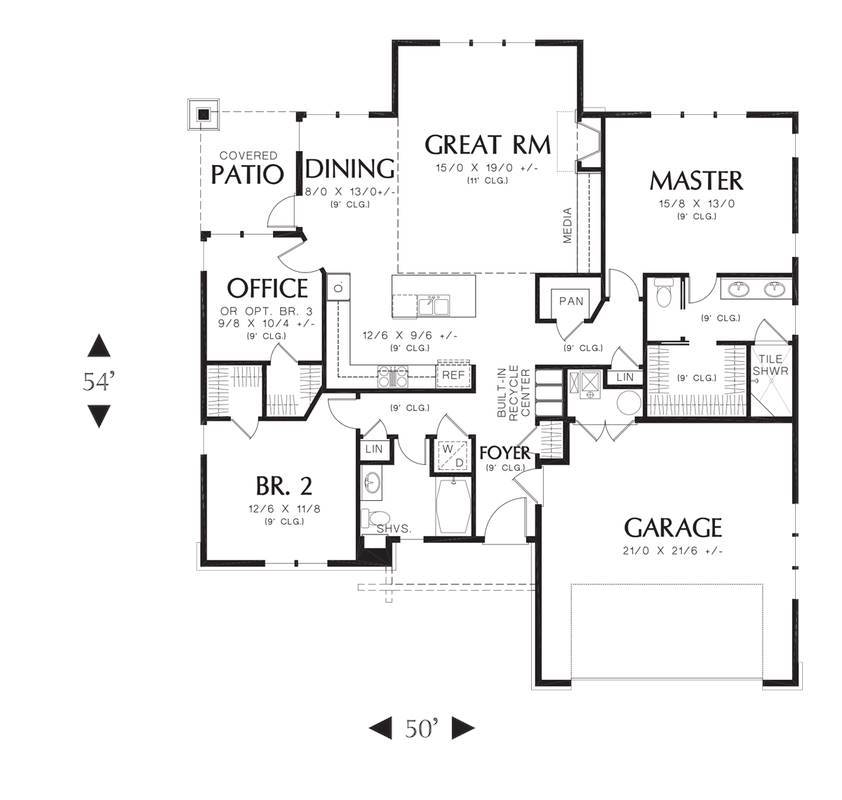 Beach house plan with 3 bedrooms and 2 5 baths plan 4272 for Main level floor plans