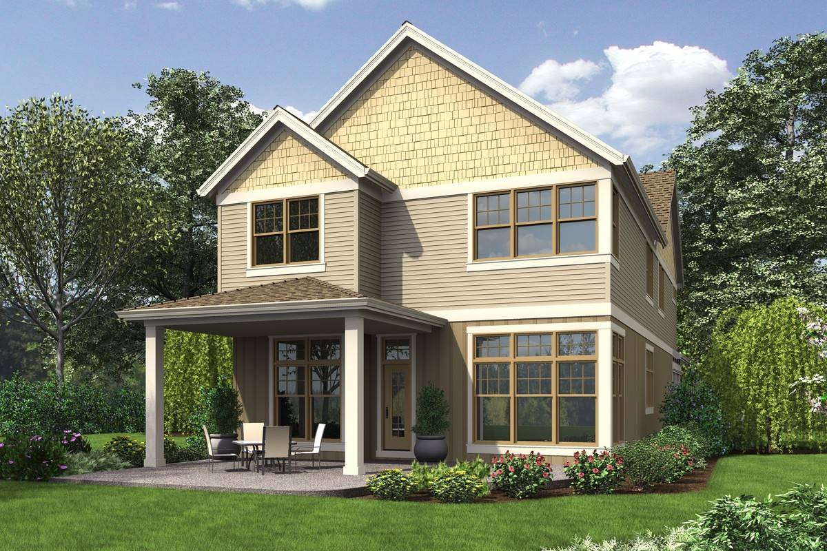 Rear Rendering by DFD House Plans