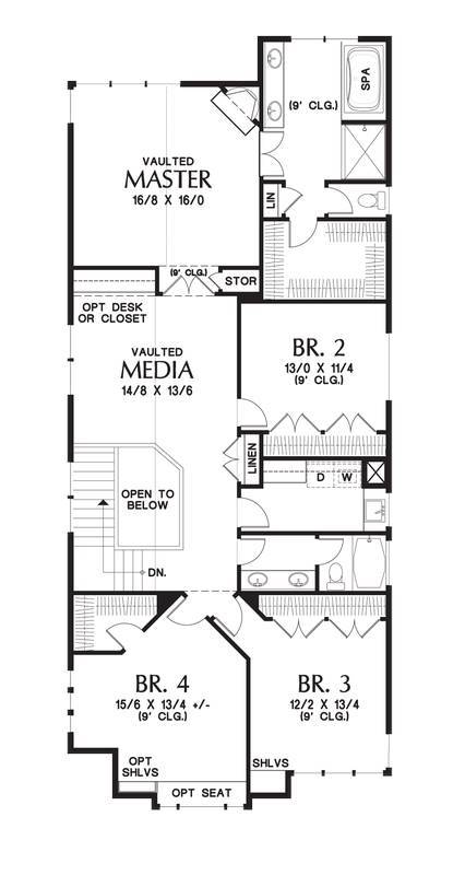 Upper Floor Plan by DFD House Plans
