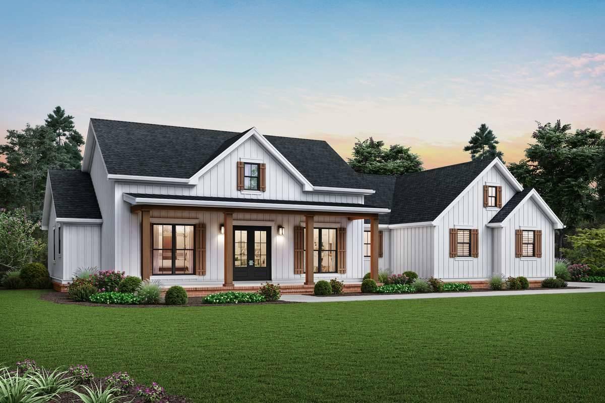 Front Rendering image of Harrisburg House Plan