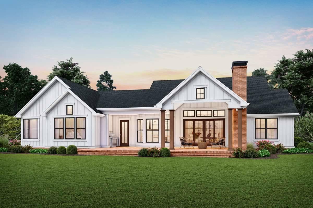 Rear Rendering image of Harrisburg House Plan