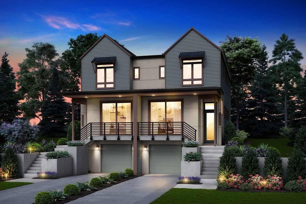 Front Rendering image of Burnstown House Plan