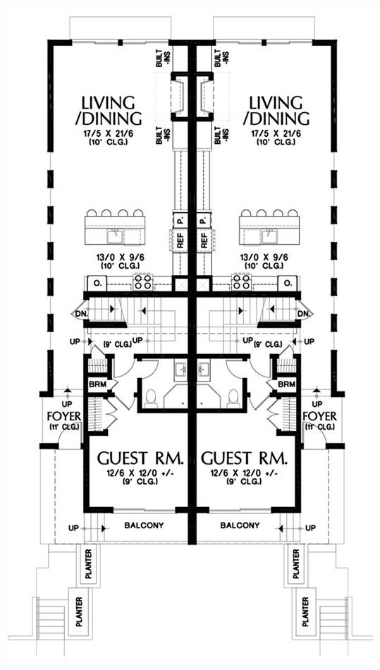 Main floor Plan image of Burnstown House Plan