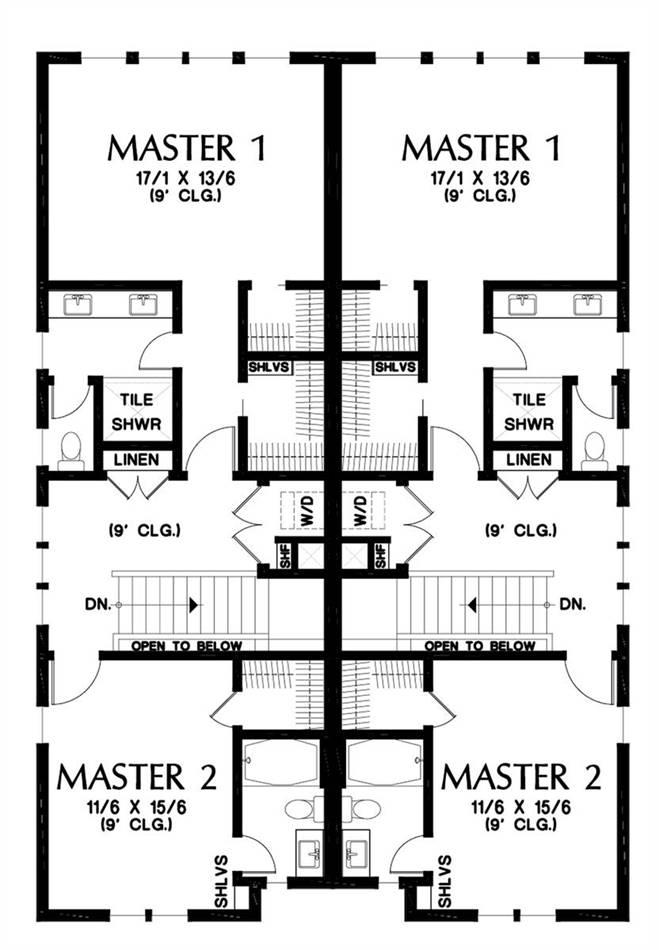 Upper Floor Plan image of Burnstown House Plan