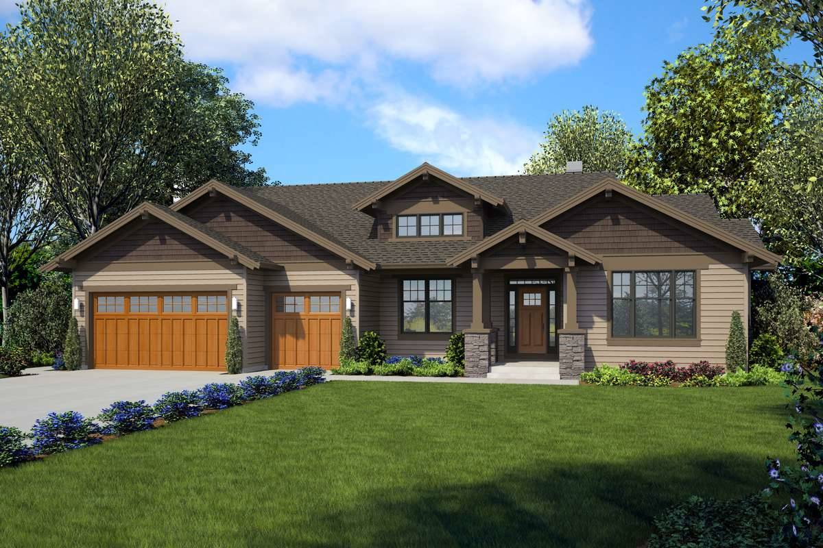Front Rendering image of Zion Ridge House Plan