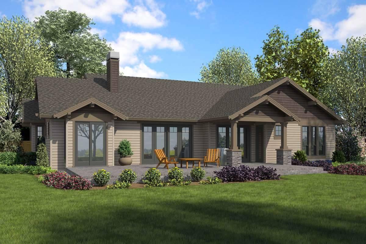 Rear Rendering image of Zion Ridge House Plan