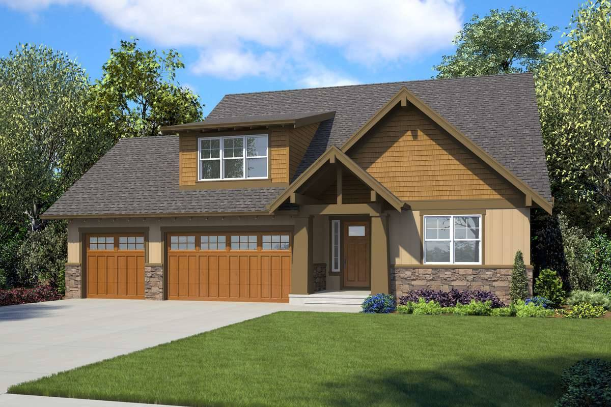 Front Rendering image of Macchiato House Plan