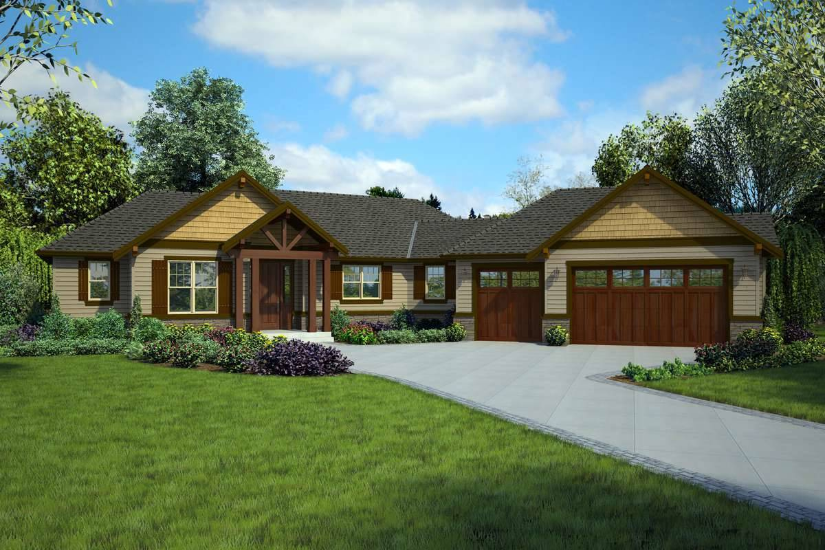 Front Rendering image of Tahoe Getaway House Plan