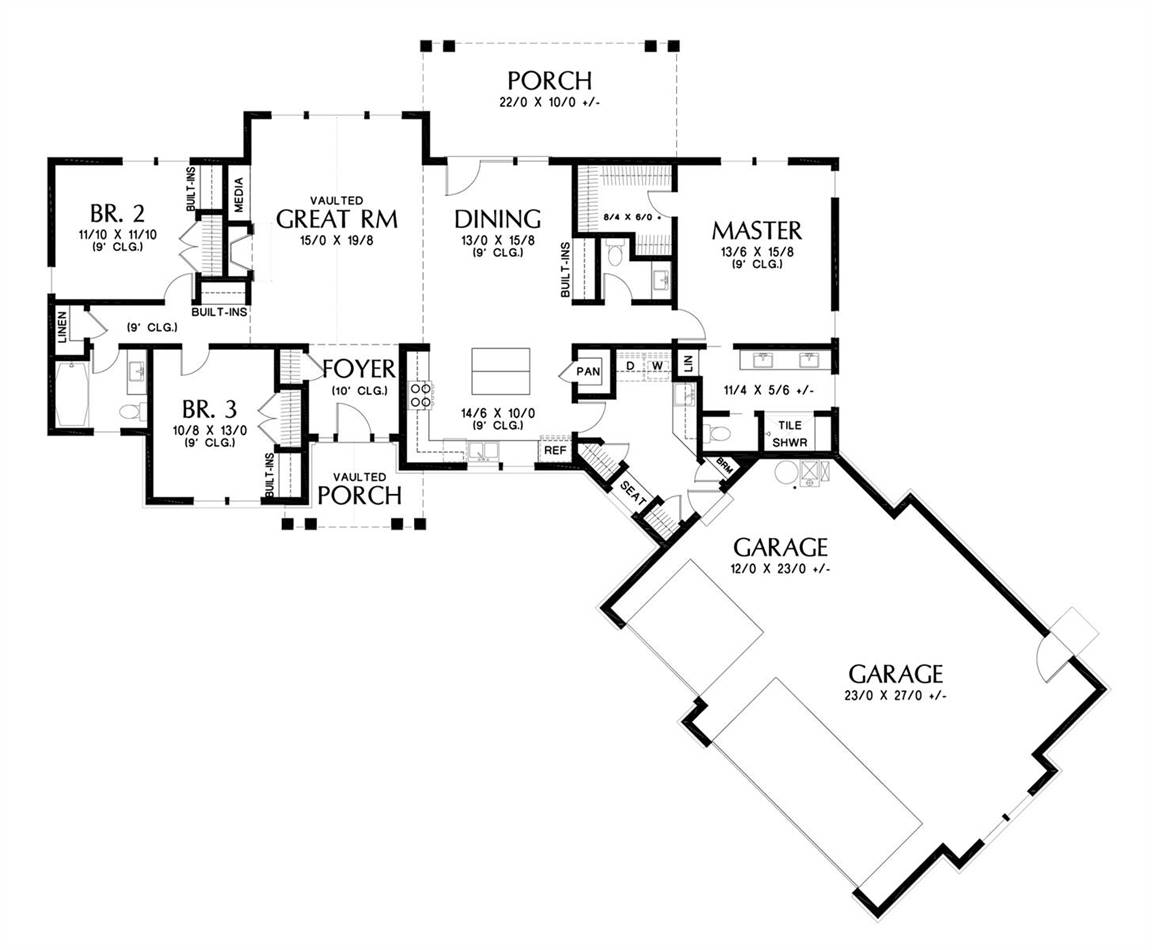 Main Floor Plan image of Tahoe Getaway House Plan