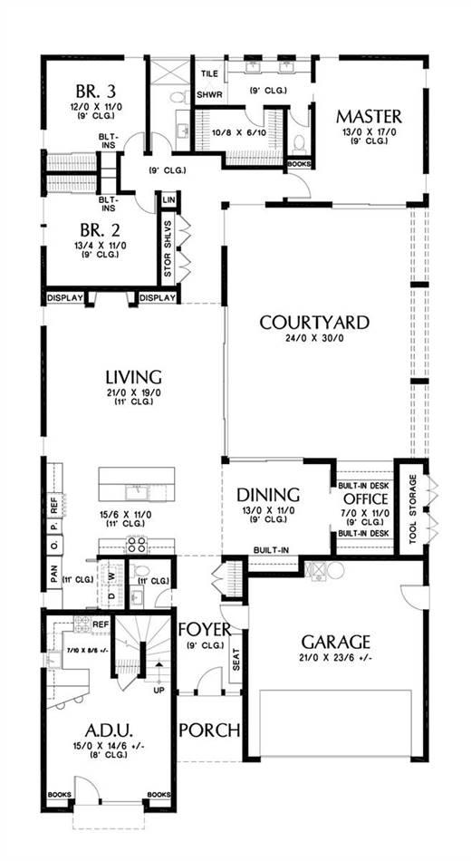 Main Floor Plan image of Bradford House Plan