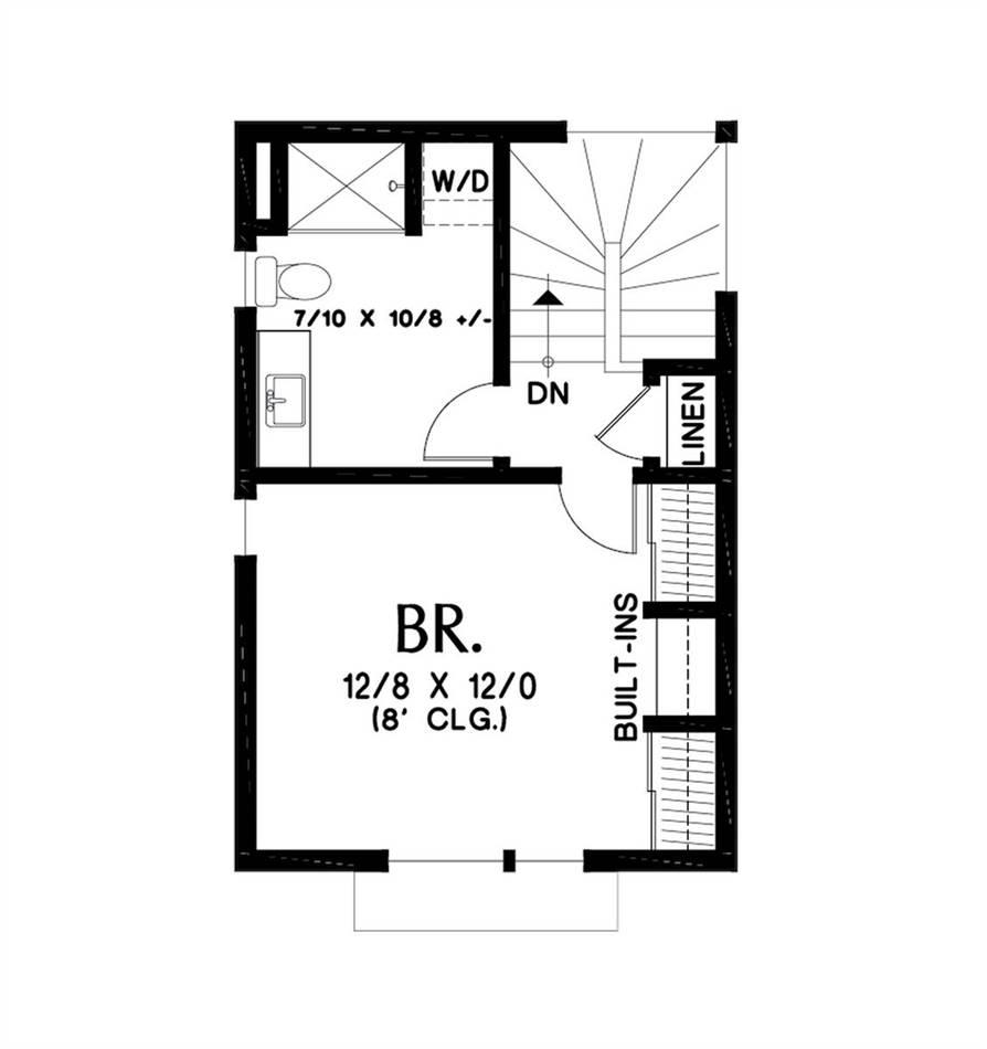 Upper Floor Plan image of Bradford House Plan