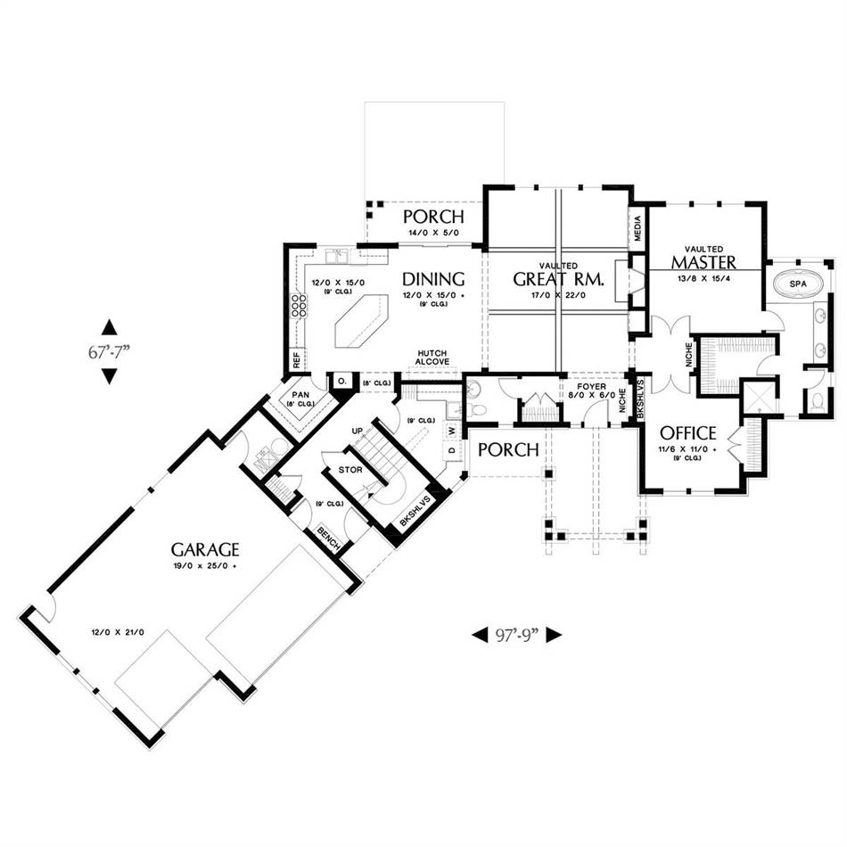 Main Floor Plan image of Temple House Plan