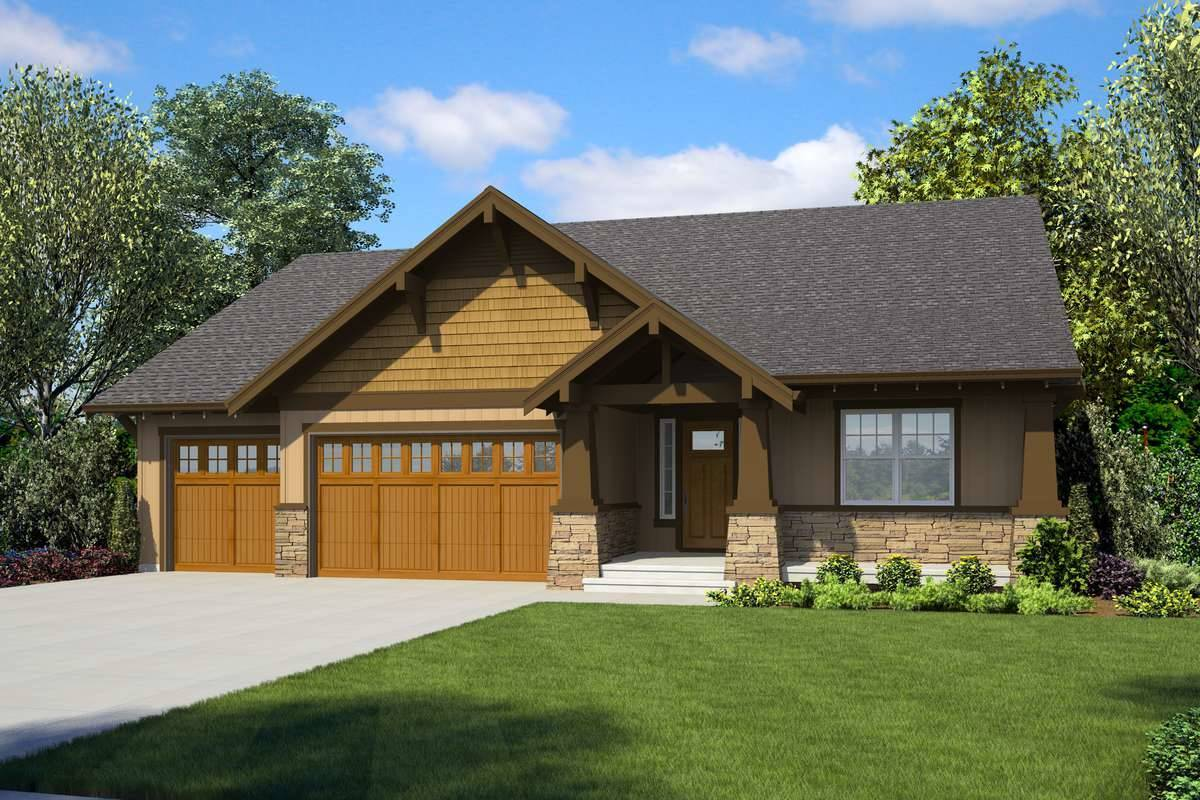 Front Rendering image of Forest Nook House Plan