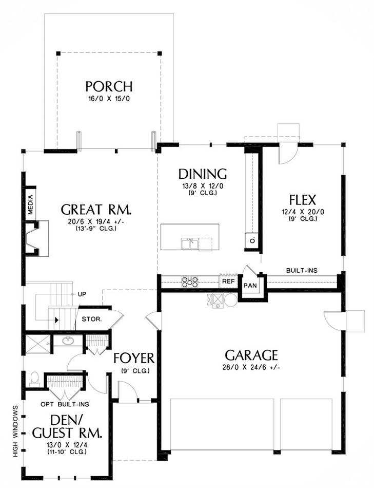 Main Floor Plan image of Florida House Plan