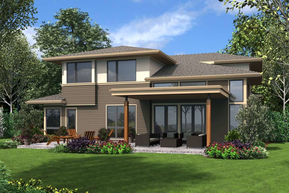 Rear Rendering image of Florida House Plan