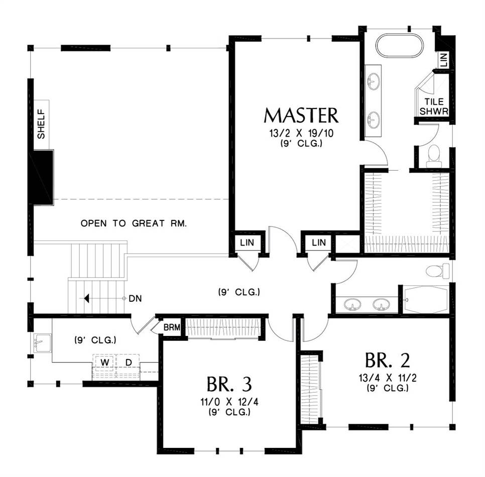 Upper Floor Plan image of Florida House Plan