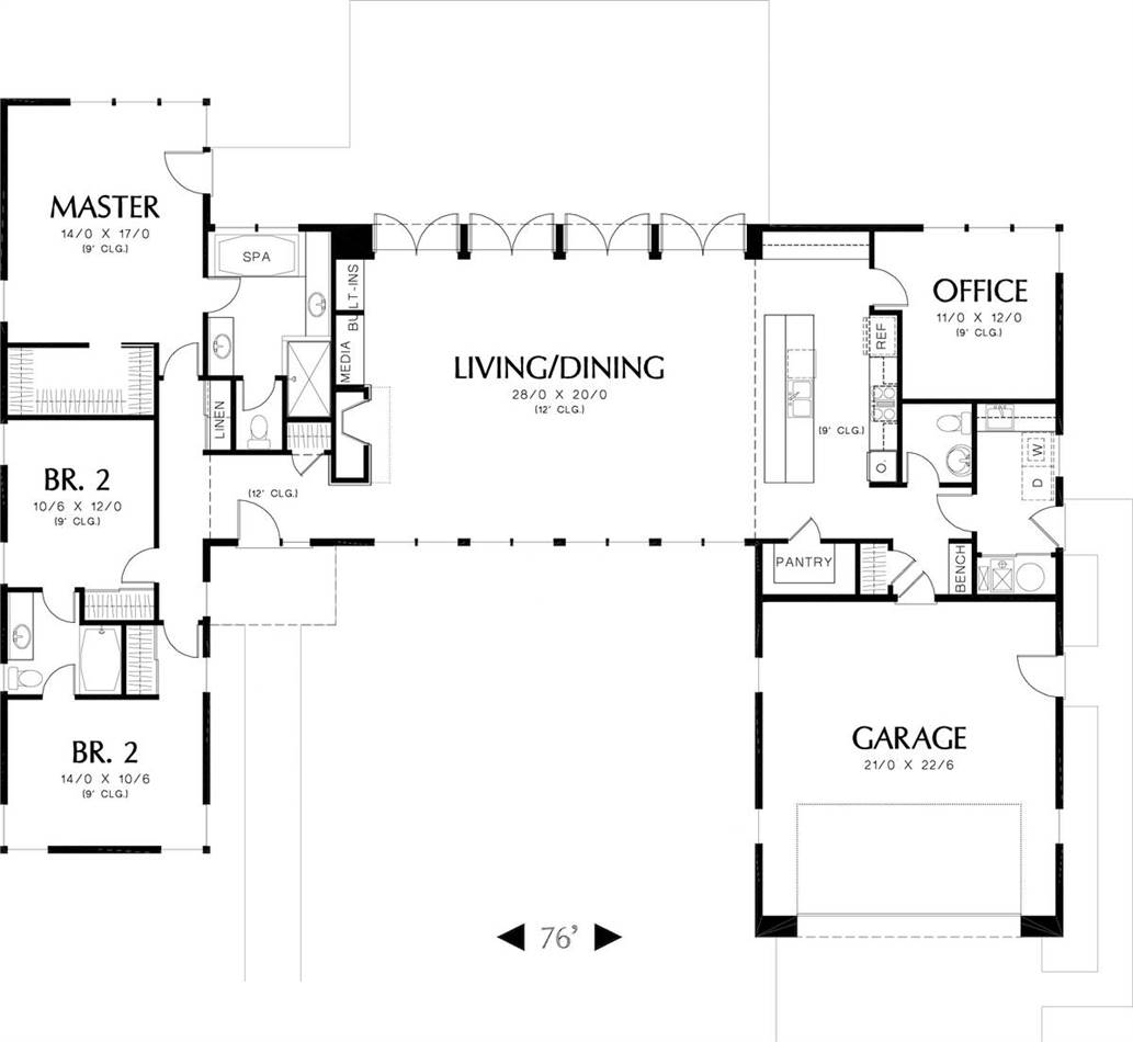 Main Floor Plan image of Calais House Plan