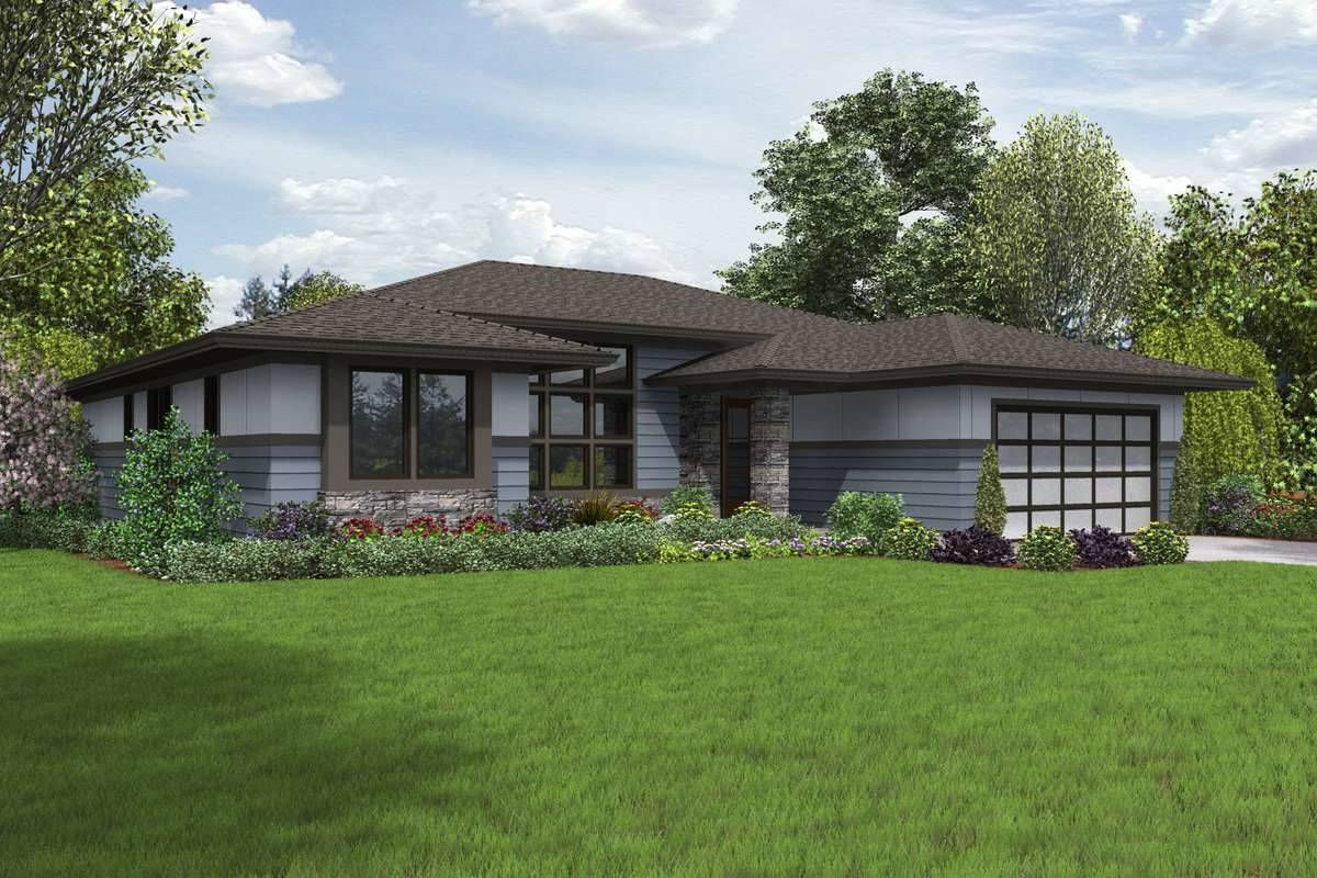 Front Rendering image of Biddeford House Plan