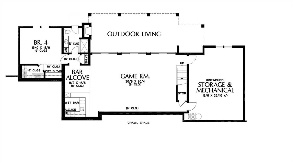 Lower Floor Plan by DFD House Plans