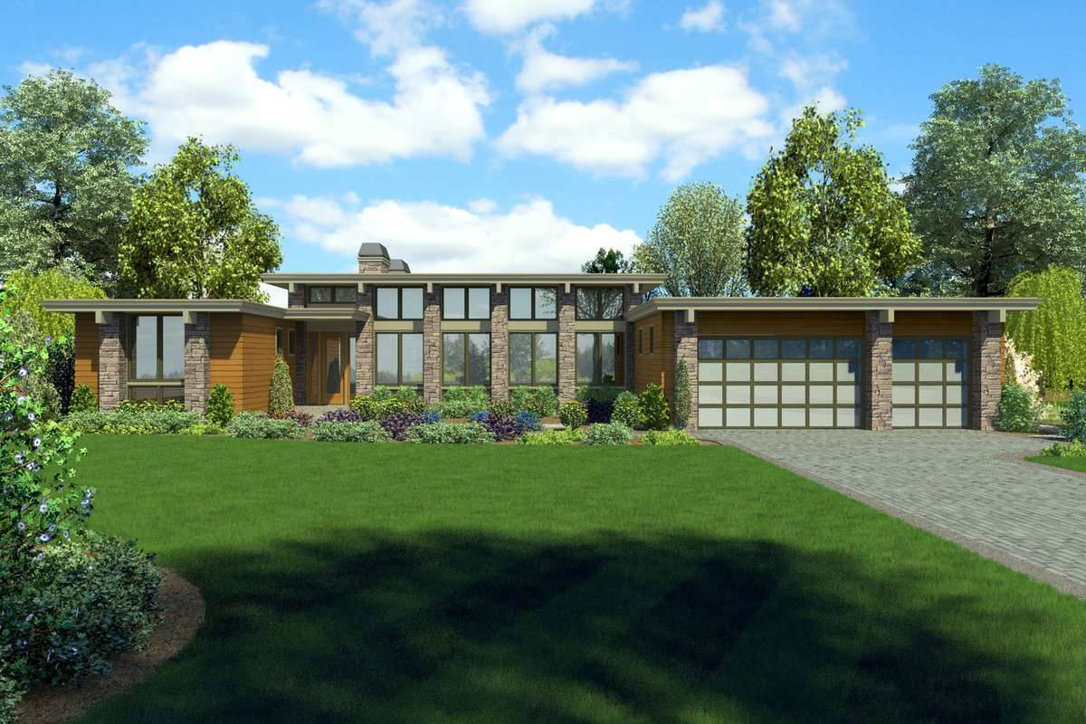 Front Rendering image of Marana House Plan