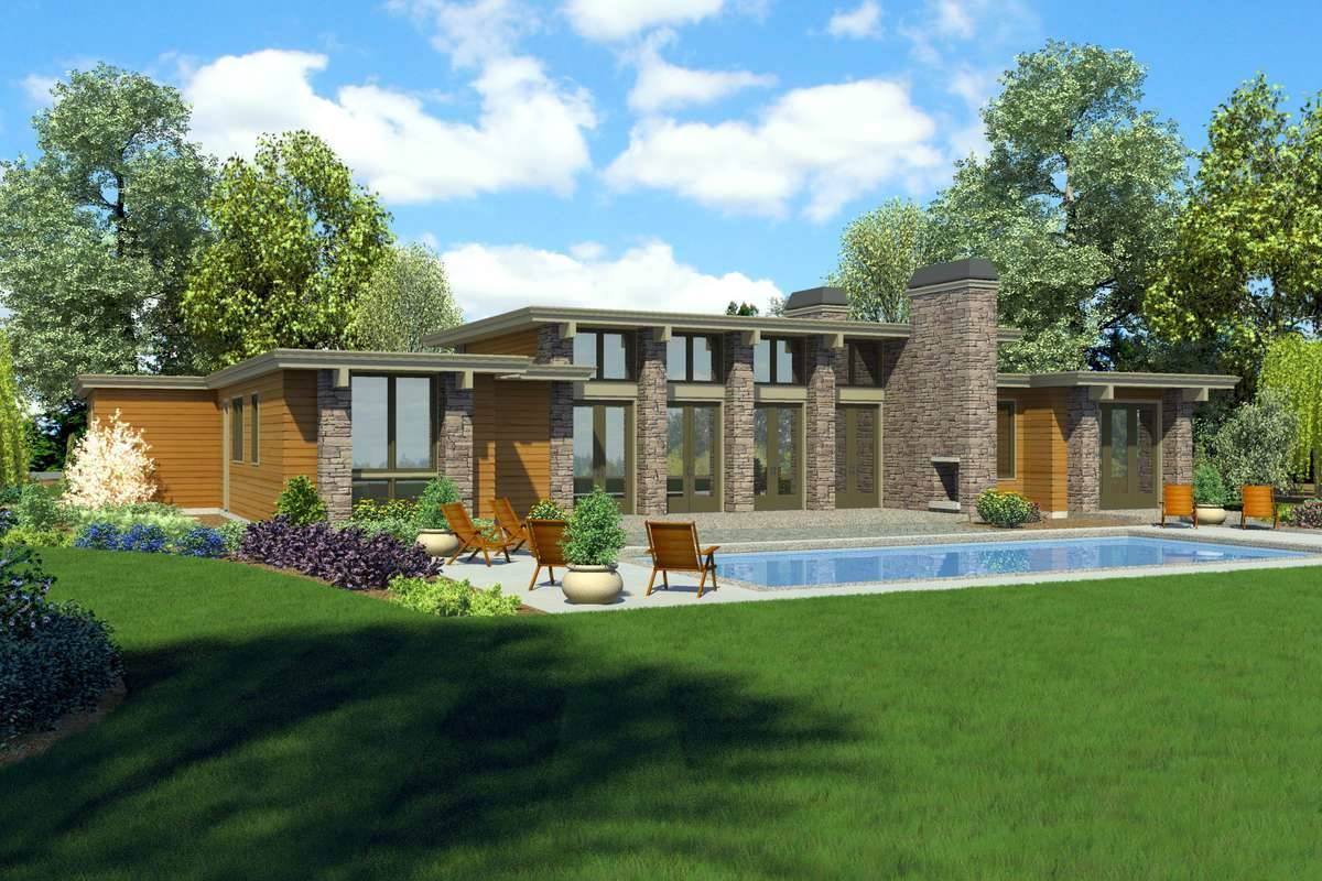 Rear Rendering image of Marana House Plan